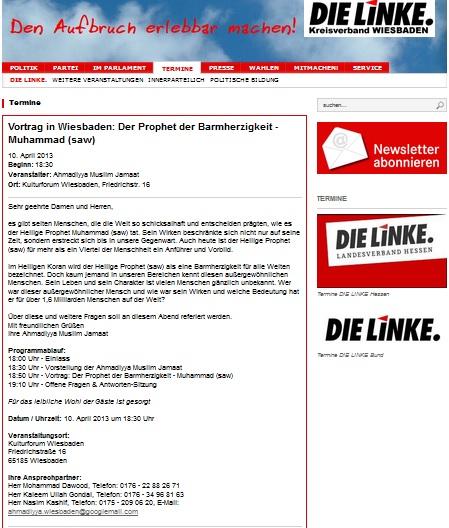 LINKE Wiesbaden Mohammed